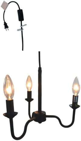 Urbanest Shire 3-Light Portable Chandelier, Black