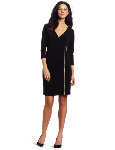 Calvin Klein Women's Exposed Zipper Dress
