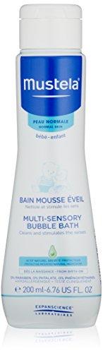 Mustela Multi-Sensory Bubble Bath, Baby Bubble Bath with Natural Avocado Perseose, Tear-Free, 6.7 Fl. Oz