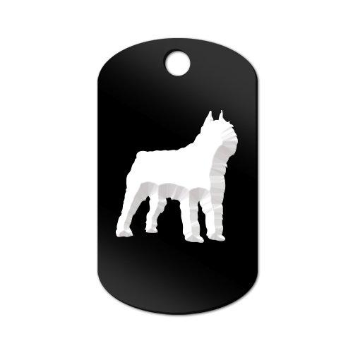 Bouvier Engraved Keychain / GI Tag Mister Petlife des Flandres Black ()