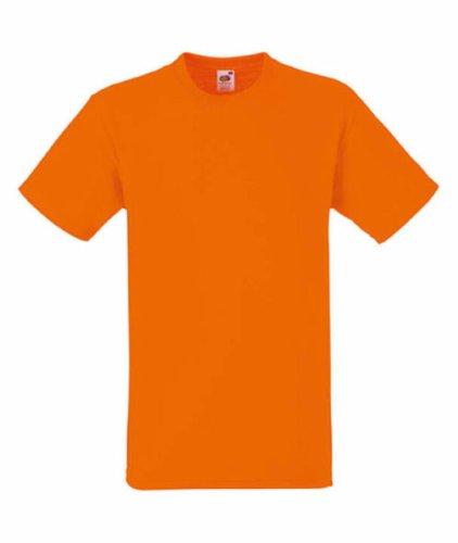 Fruit of the Loom Herren Plain Heavy Cotton T-Shirt Orange XXL