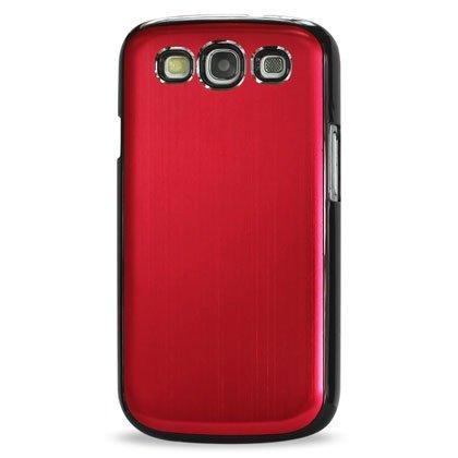 Reiko mpc05-sami9300bkrd Vernis Coque en aluminium avec protection d'écran pour Samsung Galaxy S III i9300