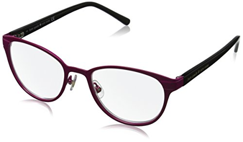 Kate Spade Women's Ebba Oval Reading Glasses, Pink Black 2.5 & Clear, - Pink Spade Glasses Kate