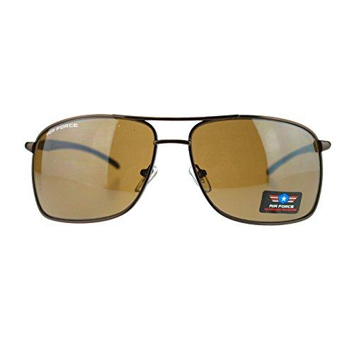 Mens Top Gun Narrow Rectangular Air Force Pilot Aviator Sunglasses - Cia Sunglasses