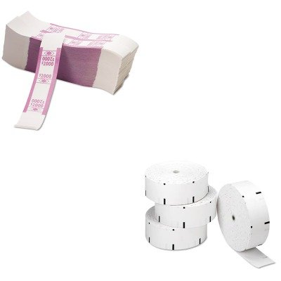 KITPMC06507PMC55032 - Value Kit - Pm Company Thermal ATM Rolls (PMC06507) and Pm Company Color-Coded Kraft Currency Straps (PMC55032)