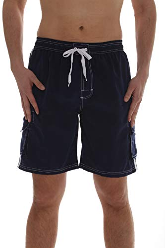 - Whiskey and Oak Men's Bathing Suit Swim Trunks 94954-NVY-S Navy