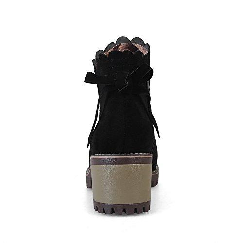 con Sandali 35 Nero Black SXC02560 EU Zeppa AdeeSu Donna 5 d5wHxYdn