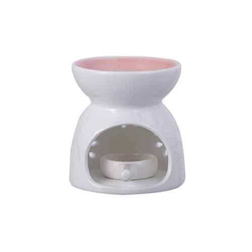 Healifty Keramische Kaarsenhouder Aroma Brander Aromatherapie Kaarsenhouder Geur Theelicht Case Roze
