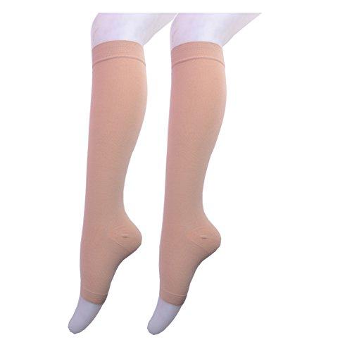 - Lingssss Maternity Compression Socks 20-30 mmhg Medical, Toeless Pregnancy Compression Socks Knee High Travel Women Men Nurse Doctor Recovery Varicose Veins, Plantar Fasciitis, Swelling (nude, xxl)