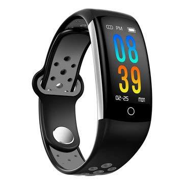 Q6 0.96inch IP68 Blood Pressure Heart Rate Monitor Fitness Tracker Bluetooth Smart Wristband - Smart Watch & Band Smart Wristband - (Grey)