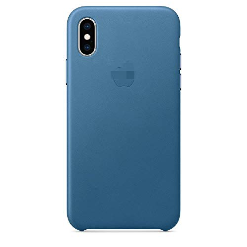 (Luxury Genuine Leather Case for Apple iPhone Xs 2018 (5.8inch) Boxed- Retail Packaging ... (Cape Cod Blue))