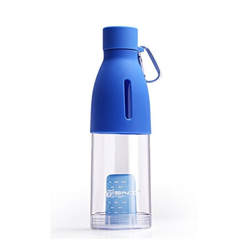 DaySeventh 500ml Leakproof Portable Sports Plastic Water Bottle PC Tea Cup (Blue)