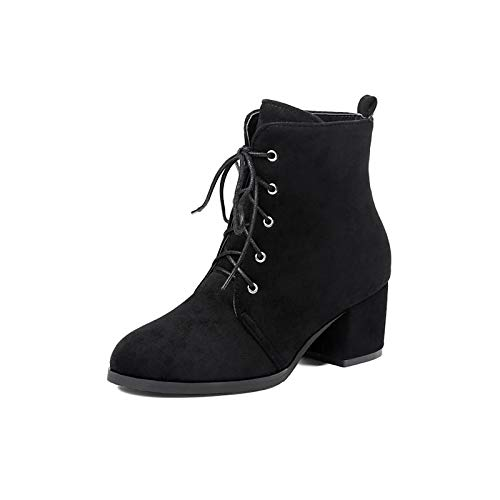 IWxez Damenmode Stiefel PU (Polyurethan) Herbst & Winter Stiefel Chunky Heel Mid-Calf Stiefel Schwarz Braun