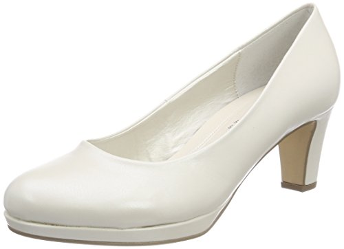 Gabor white absatz Mujer de Zapatos Fashion Shoes para Blanco Gabor Off Tacón BPwqR5v