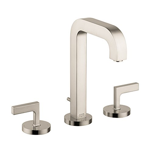 AXOR AXOR Citterio  Modern 2-Handle  9-inch Tall Bathroom Sink Faucet in Brushed Nickel, 39135821