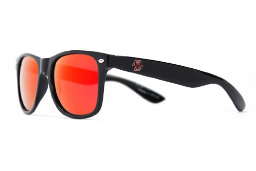 NCAA Boston College Eagles Sunglasses-Black Frame, Red Lenses, Black, One Size, ()