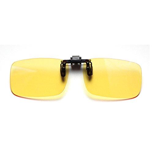 Cyxus Filtro de luz Azul (Clip on) Gafas de la computadora, Bloqueo UV Fatiga de Ojos Anti Unisexo Gafas de Lectura Lente Amarillo (Tamano estandar)