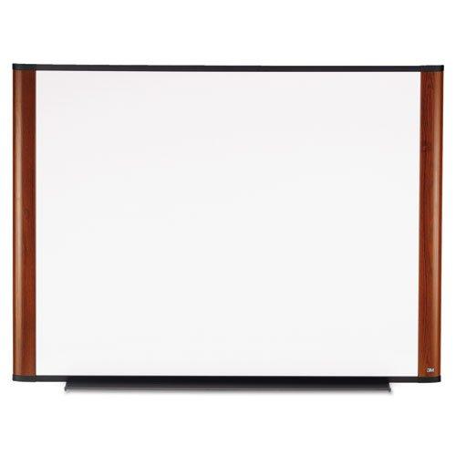 3M Dry Erase Board, 48 x 36-Inches, Widescreen Mahogany-Finish Frame Dark Mahogany Finish Frame