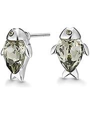 Mestige Koi Women's Stud Earrings with Swarovski Crystals - PMER1019