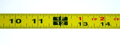 Metal Adhesive Backed Ruler – 3/4 Inch Wide X 25 Feet Long – Left to Right - Fractional - 1/16' Grads