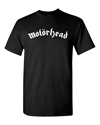 Motorhead English Heavy Metal Band Logo T-Shirt Rock Metal t Shirt (M, Black) ()