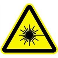 Cartel de advertencia de rayo láser 10 cm