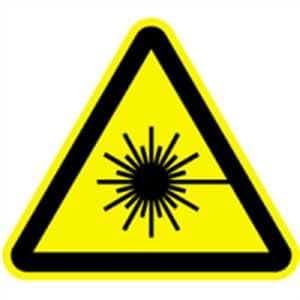 Etiqueta de señal de advertencia antes de rayo láser 30 cm