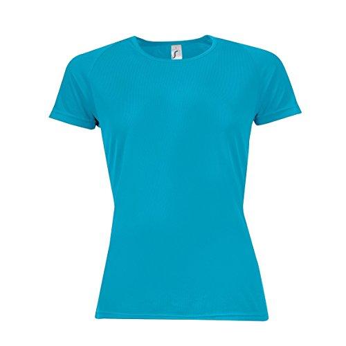 SOLS- Camiseta de deporte de manga corta para chica/mujer Azul marino