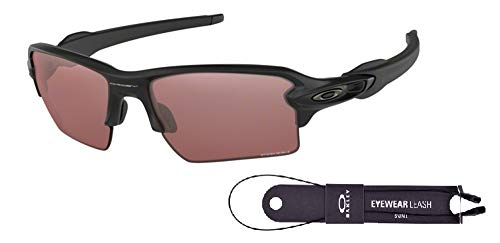 Oakley Golf Sunglasses - Oakley Flak 2.0 XL OO9188 918890 59M Matte Black/Prizm Dark Golf Sunglasses For Men+BUNDLE with Oakley Accessory Leash Kit