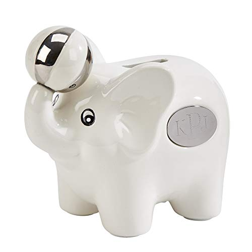 Ceramic Elephant Bank with Ball