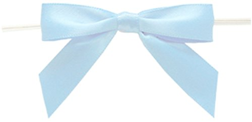 BAYWIND LTD; Medium Twist Tie Bows- 100pc (Light Blue) (Lite Tie)