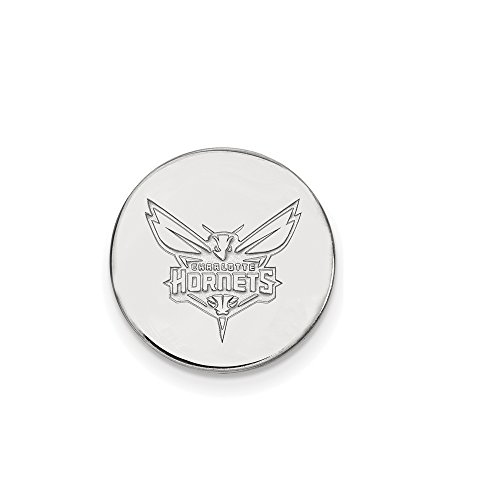NBA Charlotte Hornets Lapel Pin in 14K White Gold by LogoArt