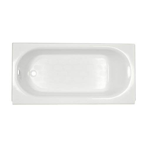 (American Standard 2392.202ICH.020 Princeton Recess 5-Feet Left-Hand Drain Americast Bath Tub with Integral Overflow, White)