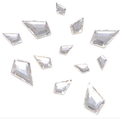 Clear Small Swarovski Crystals (Swarovski 2771 Kite Flatbacks Crystals Nail Art Rhinestones, Mixed Size (12.9x8.3mm, 8.6x5.6mm and 6.4x4.2mm) Crystal Clear(001)- 12 Pieces)