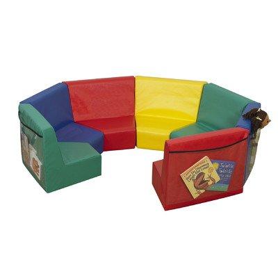 Primary 7 Piece Kids Modular Seating Set