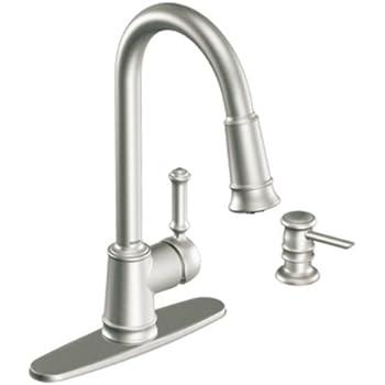 Moen Lindley Stainless Steel Kitchen Faucet