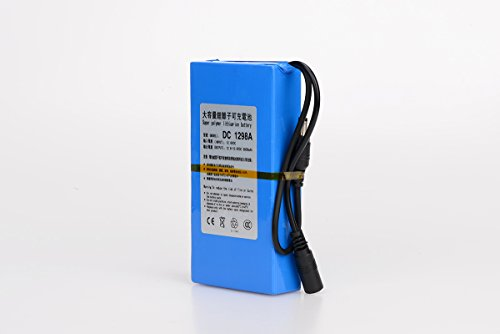 ABENIC DC 12V 9800mAh Super Rechargeable Protable Li-ion Lithium Battery DC1298A (Blue)