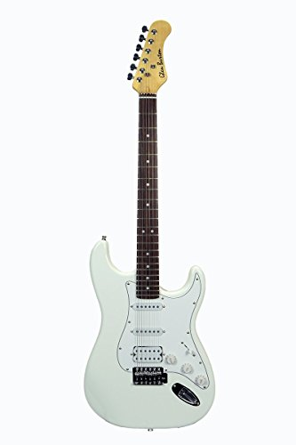 39″ Inch WHITE Double Humbucker Full Size Electric Guitar [Fat Style] & DirectlyCheap(TM) Translucent Blue Medium Guitar Pick