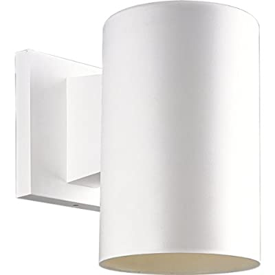 Progress Lighting P5712-30 5-Inch Non-Metallic Cylinder with Only Non-Corrosive Hardware Components Used and UL Listed For Wet Locations, White