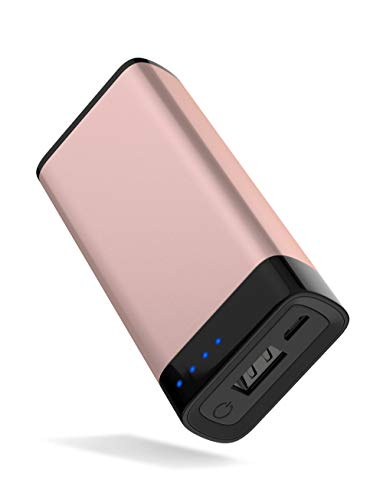 Portable Charger Power Bank Battery - by TalkWorks | 4000 mAh | Cell Phone Backup External USB Power Pack for Apple Iphone 6, 7, 8, X, XS, XR, Ipad, Android Samsung Galaxy and More - Rose Gold