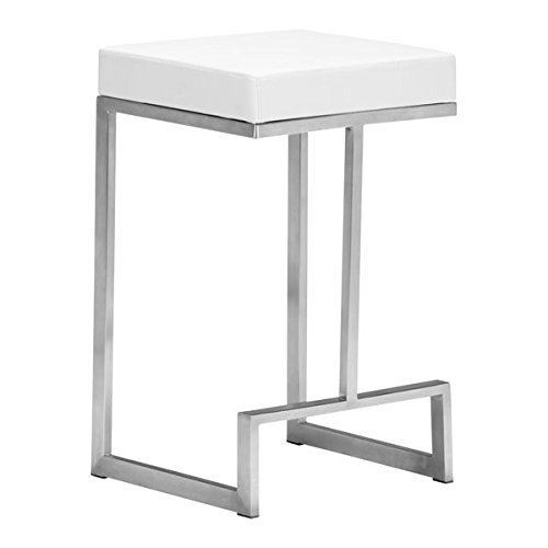 Zuo Darwen Counter Chair Set of 2 , White