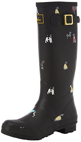Black Agua de Welly Black Cosy Print Botas Joule Tom Mujer Dogs xSPg0g
