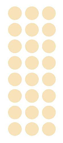 x120 Ivory Round Sticker Code Inventory Label Dot Decal Mini Small Pack Clear Vinyl 1