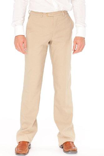 Armani Linen Trousers - Armani Collezioni BEIGE Linen Pants Trousers, 28, Beige