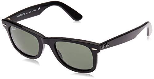 Ray-Ban RB2140 Original Wayfarer Sunglasses, Black/Green 1, 50 mm