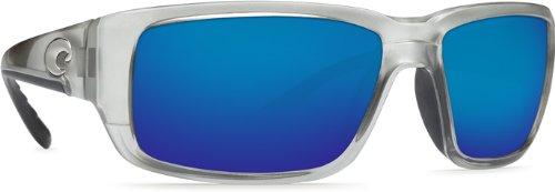 Costa Del Mar Sunglasses - Fantail- Glass / Frame: Silver Lens: Polarized Blue Mirror 580 - Mar Silver Fantail Mirror Del Costa
