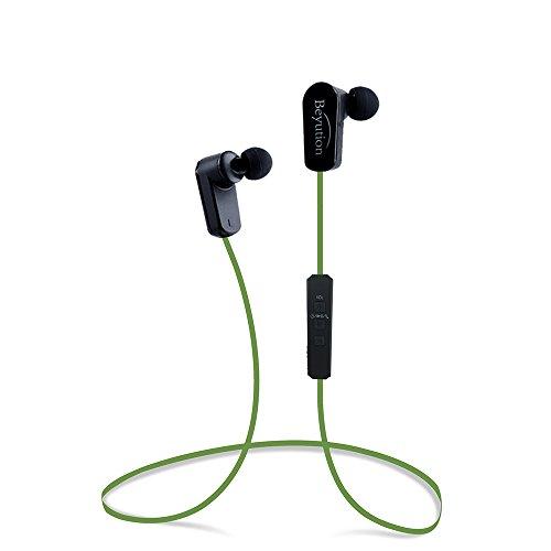 Beyution New Sports Hi-fi Bluetooth 4.1 Headphones - Mini Lightweight Wireless Stereo Sports/Running Bluetooth Earbuds Headphones Headsets Built in Mic-Phone (508s-v4.1-Green)