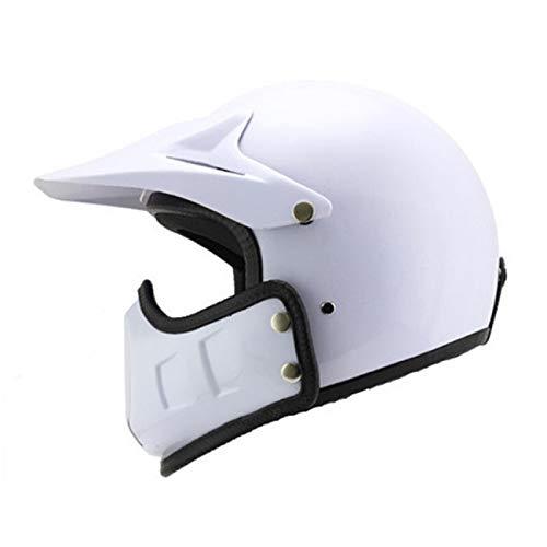 オートバイのヘルメット、男性と女性の夏の二重レンズ、日焼け止めの人格クールな電気四季半分のヘルメット、バッテリー取り外し可能、折り畳み不可、黒S (色 : 白, サイズ さいず : XXL) B07KCB446Y XX-Large 白 白 XX-Large