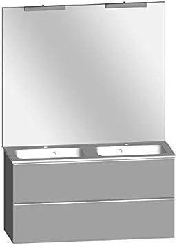 Créabain – Mueble de baño Blanco Brillante 120 x 60,8 x 45,3 cm: Amazon.es: Hogar