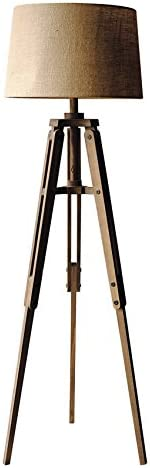 Creative Co-op Tripod Style Wood Floor Lamp